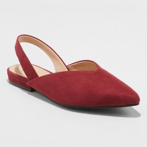 NWT A New Day Pam V Throat Burgundy Mules 9.5